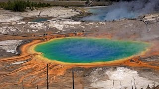 Grand Prismatic Spring, Yellowstone National Park, USA in 4K (Ultra HD)