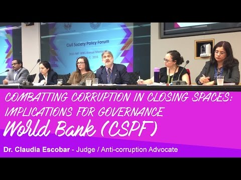 World Bank - Corruption - Civil Society - Claudia Escobar - Judge/Anti-corruption Advocate