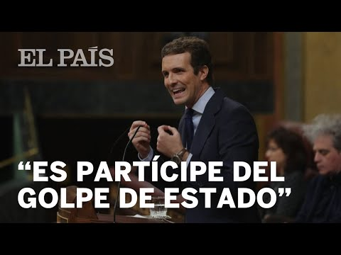 """CASADO acusa a SÁNCHEZ de ser responsable y partícipe del """"golpe de Estado"""" en Cataluña"""