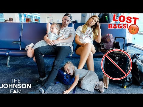 24 HOURS in AIRPORT! 😴 They LOST Our BAGS! 😡