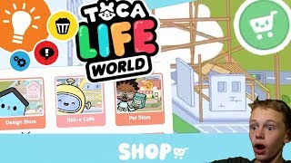 Toca Life World - SHOP! - How To Buy PLAYSETS + NEW PLACES - New App By Toca Boca