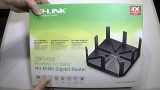 AC5400 Wireless Tri-Band MU-MIMO Gigabit Router Archer C5400 Unboxing Review