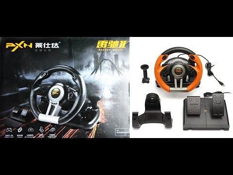 PXN - V3II USB Game Racing Wheel   Full Unboxing   Gamers Nation