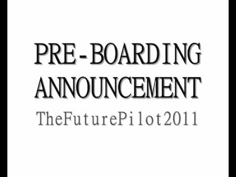Pre-Boarding Announcement - YouTube