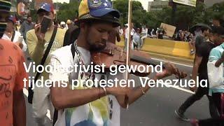 Vioolactivist gewond tijdens protesten Venezuela  - RTL NIEUWS