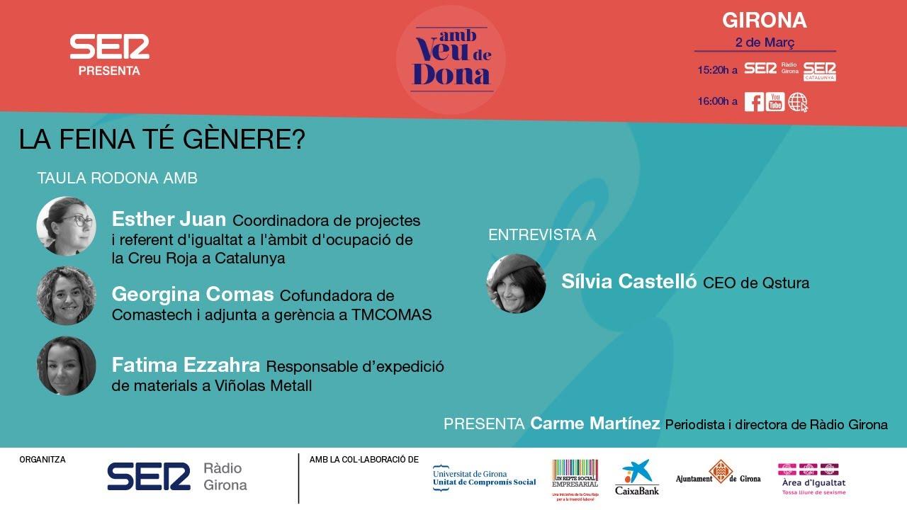 📣 AMB VEU DE DONA -  2 de Març 2021 - 16h | 2a jornada de la setmana Amb veu de Dona a Ràdio Girona