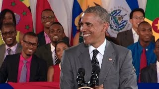 President Obama Speaks at a Town Hall With Young Leaders of the Americas in Jamaica