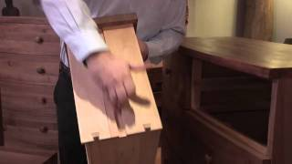 Caspian bedroom furniture range in walnut