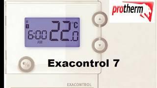 exacontrol 7   подробная настройка Protherm