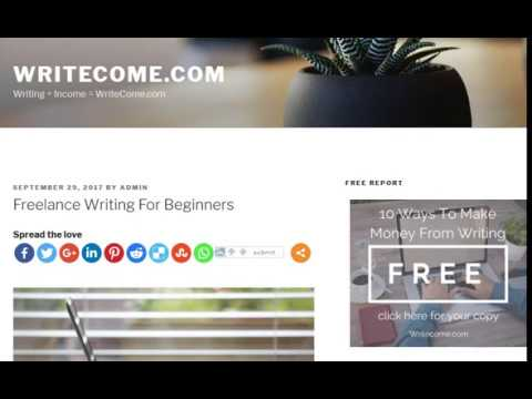 Freelance Writing For Beginners - Freelance Writing From Home