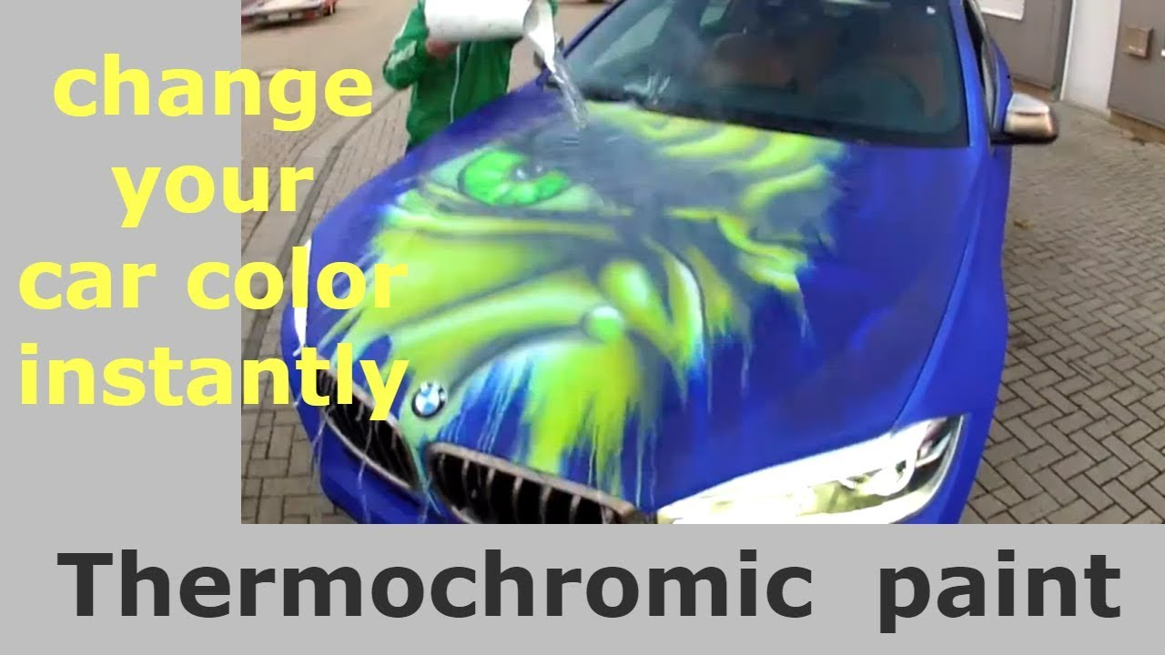 change your car color instantly car thermochromic paint changes color youtube. Black Bedroom Furniture Sets. Home Design Ideas