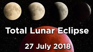 TOTAL LUNAR ECLIPSE 27 July 2018 / Full video