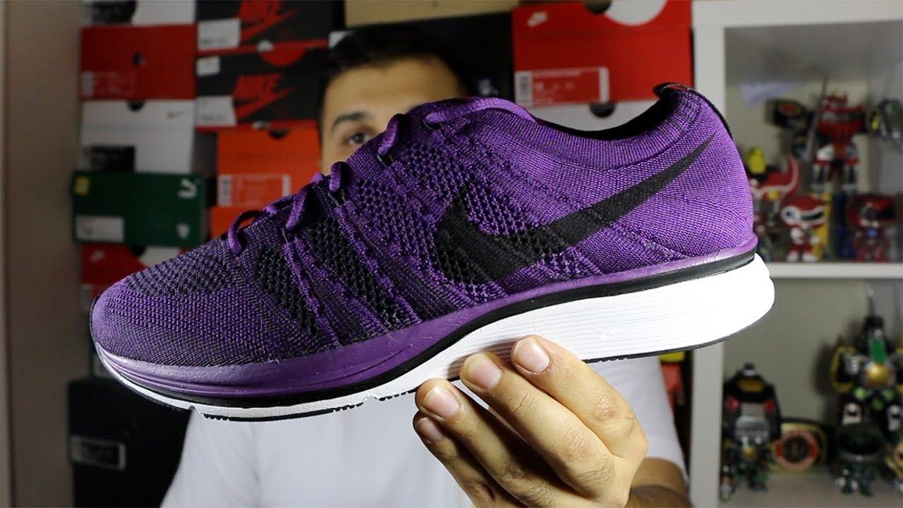 nike flyknit trainer night purple