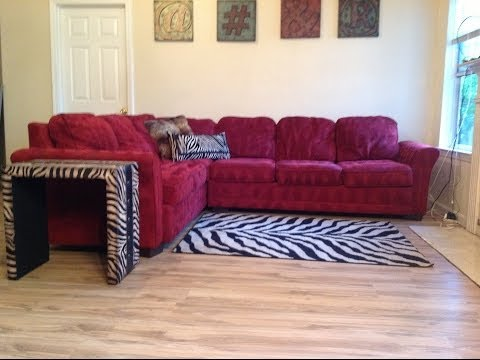 CINDY CRAWFORD STLYE RED SECTIONAL FOR SALE