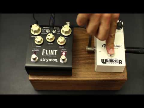 Strymon Flint - Tremolo & Reverb - Effects Pedal Demo - With Wampler Plexi-Drive