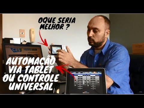 o que seria melhor para seu Home Theater? controle via tablet ou controle universal