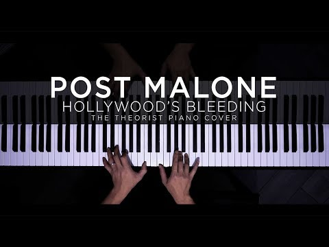 Post Malone - Hollywood's Bleeding | The Theorist Piano Cover (with Lyrics)