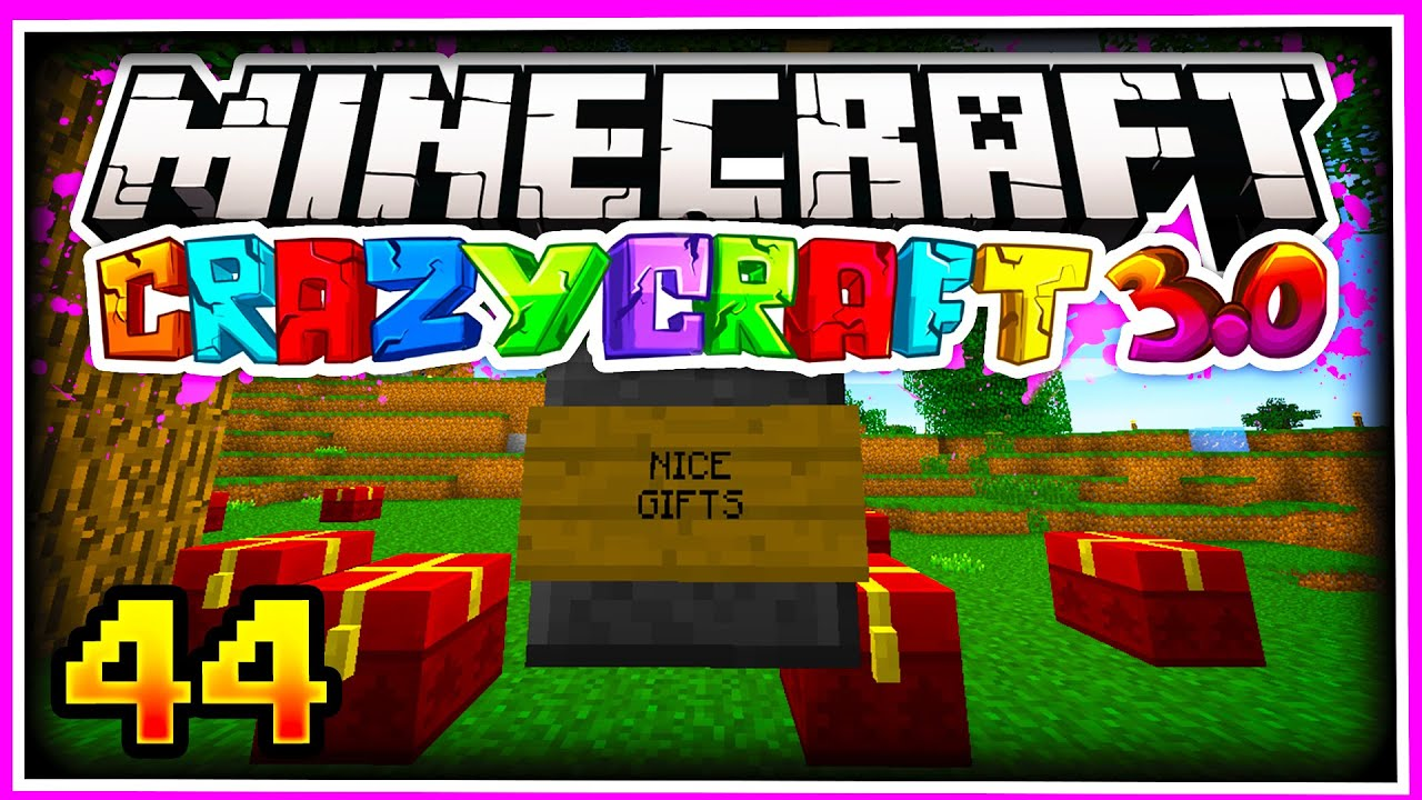 Minecraft CRAZY CRAFT 3 0 SMP: CHRISTMAS GIFTS Ep 44