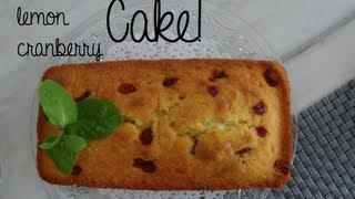Orange, Lemon And Cranberry Cake!