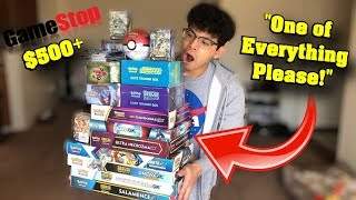 I WENT TO GAMESTOP AND BOUGHT ONE OF EVERY POKEMON CARD PRODUCT THEY HAD! *Tons of Ultra Rares*
