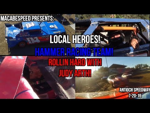Antioch Speedway Local Heroes: Chad Hammer And Judy Arth! 7-20-19