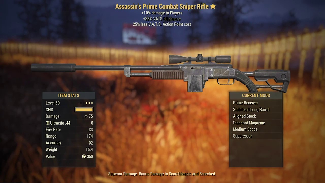 Fallout 76 - 3 Star Legendary Weapons 18 Examples