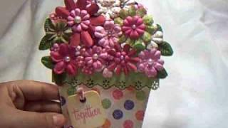 Itzuvit's Flower Pot Shaped Card