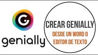 Crear Genially desde Word