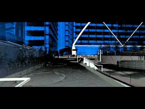 Exchange Square with point clouds, Liverpool Street Station, London