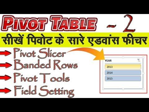 Pivot Table All Advance Function in Hindi - PART 2│सीखें पिवोट के सभी एडवांस फीचर