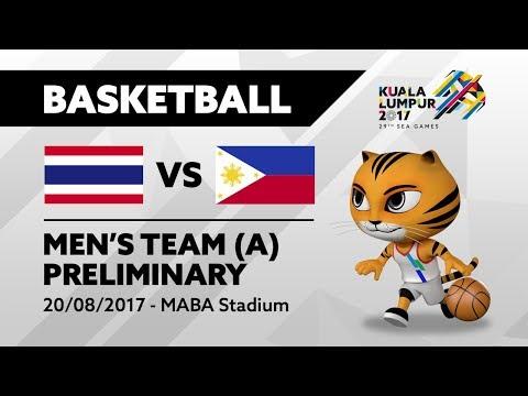 KL2017 29th SEA Games |  Men's Basketball - THA 🇹🇭 vs PHI 🇵🇭 | 20/08/2017