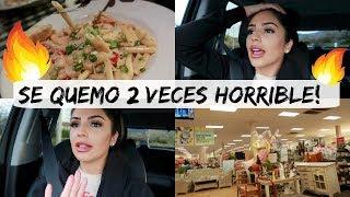 SE QUEMO 2 VECES HORRIBLE! 🔥 - NOS FUIMOS A HOMEGOODS 🏡 - Vlogs Diarios