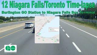 GO Transit - 12 Niagara Falls/Toronto Time-lapse (Burlington GO Station to Niagara Falls Terminal)