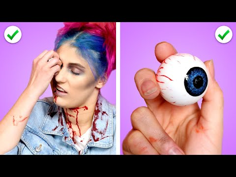 ZOMBIE AT SCHOOL! Funny Situations, DIY Zombie School Supplies U0026 Ways To Sneak Candy By Crafty Panda