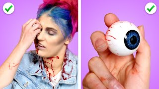 ZOMBIE AT SCHOOL! Funny Situations, DIY Zombie School Supplies & Ways To Sneak Candy by Crafty Panda