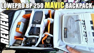 Lowepro DroneGuard BP 250 - DJI Mavic Pro Backpack Review & Setup Tour