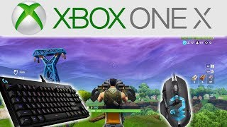 Fortnite gameplay on Xbox One X with Mouse & Keyboard! Amazing Results!