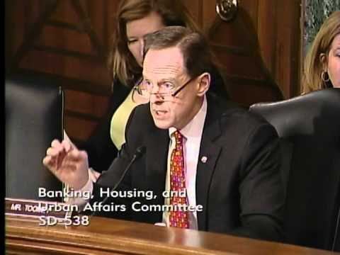 Sen. Toomey questions witnesses at Banking Committee hearing on capital formation legislation
