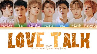 WayV - Love Talk (English Ver.) (Color Coded Lyrics | Eng | Ina)/Lirik Terjemahan Indonesia