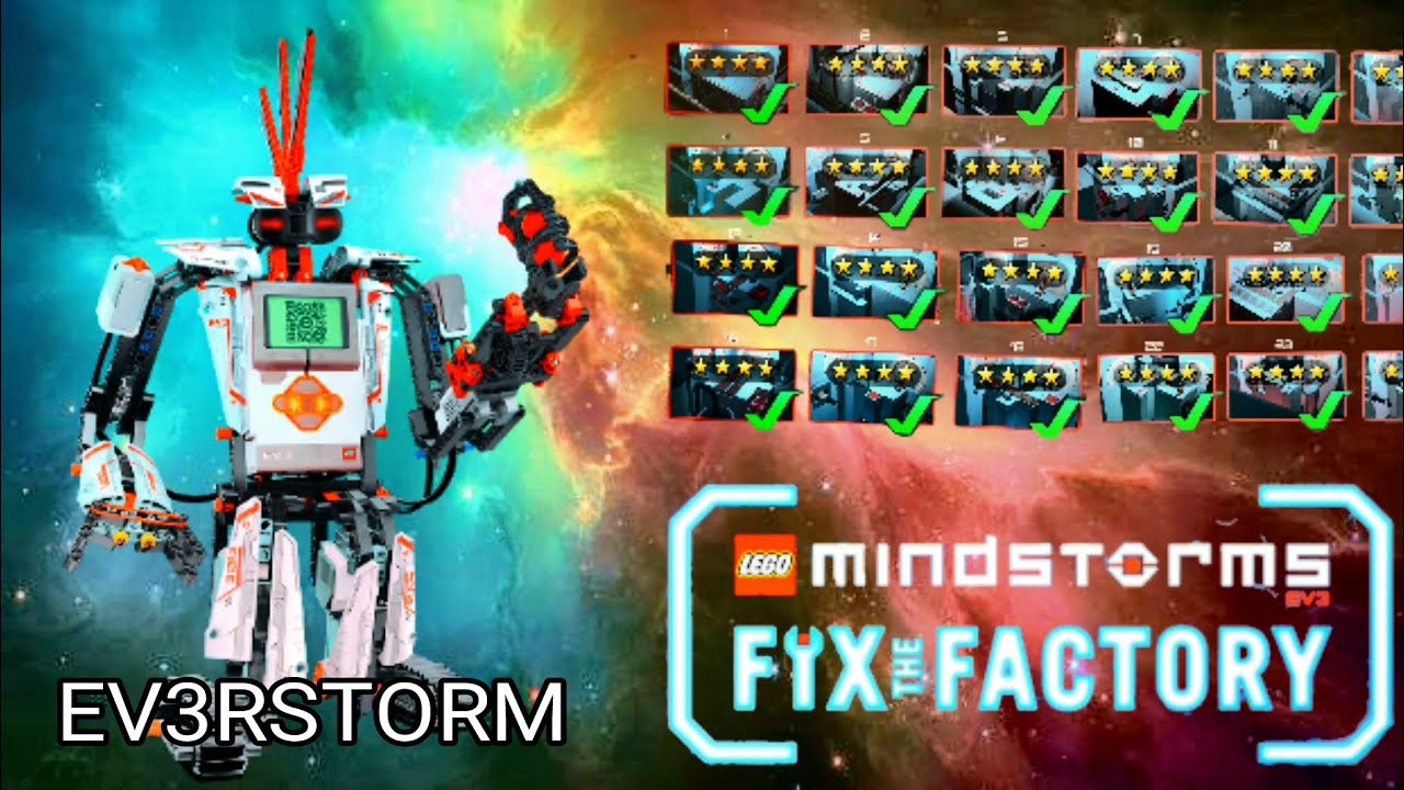 6 LEGO Mindstorms Fix the Factory # Level Done - YouTube