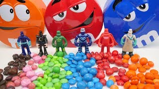 Magic M&M's with Nursery Songs Johny Johny Yes Papa  Baby Song - Pj Masks Learn Colors for Babies