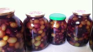 КОНСЕРВИРОВАННЫЙ ВИНОГРАД для зимних салатов и десертов / Canned grapes