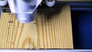 Platinenbeschriftung mit 40W China Laser / Engraver - Beispiel