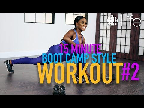 15 Minute Boot Camp Style Workout Pt. 2 | Fit Class | CBC Life