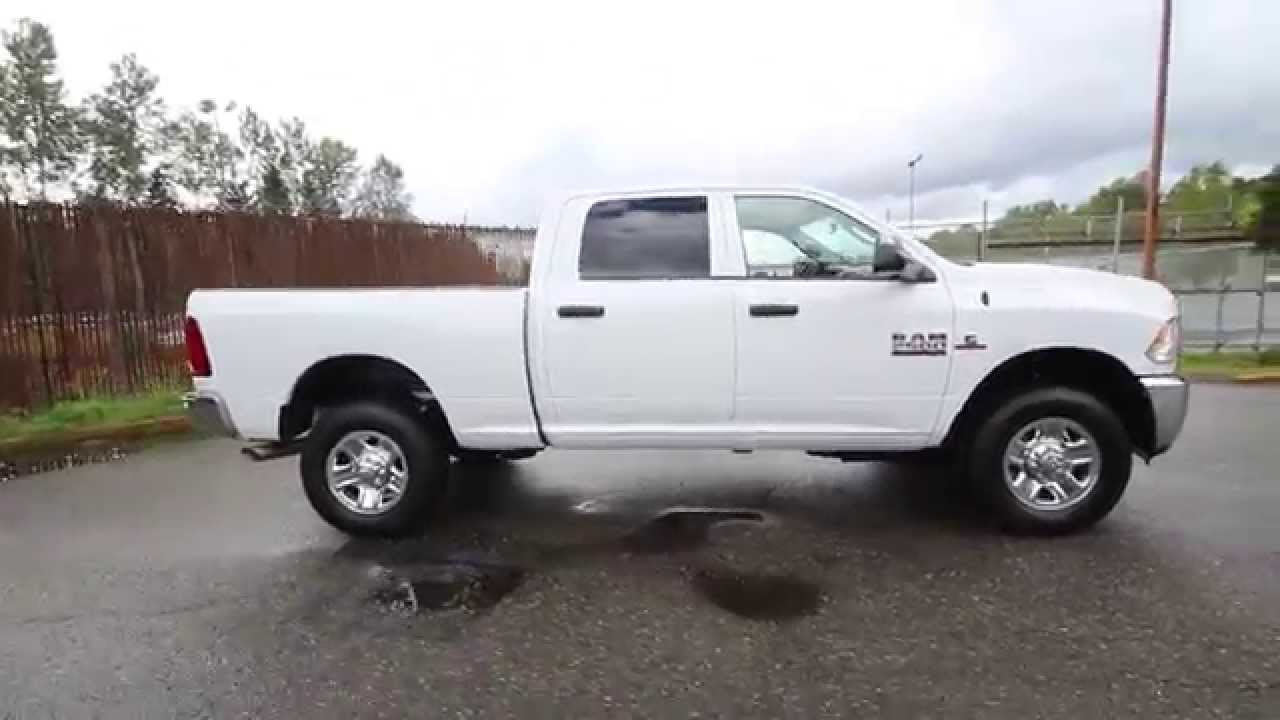 2016 dodge ram 2500 tradesman white gg119860 redmond seattle youtube. Black Bedroom Furniture Sets. Home Design Ideas