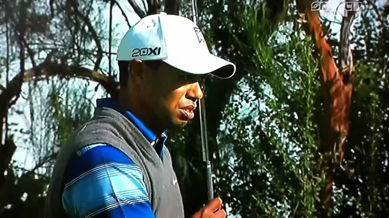 Tiger Woods golfer miss hit - YouTube