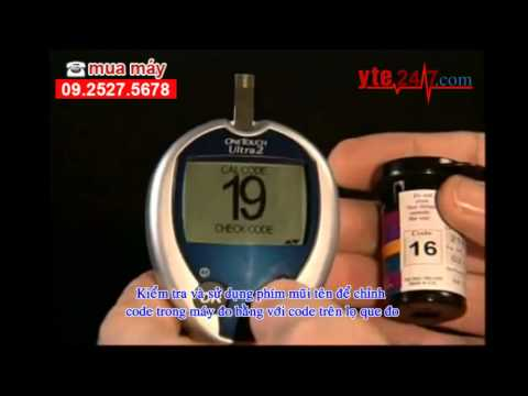 Hướng dẫn sử dụng máy đo đường huyết One Touch Ultra 2