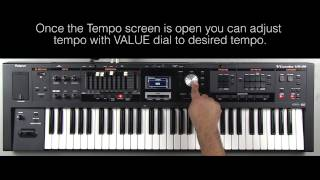 Roland VR-09 - Changing the Tempo of the Rhythm Pattern