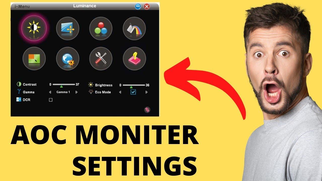 How to Adjust AOC monitor Brightness in Hindi 2016