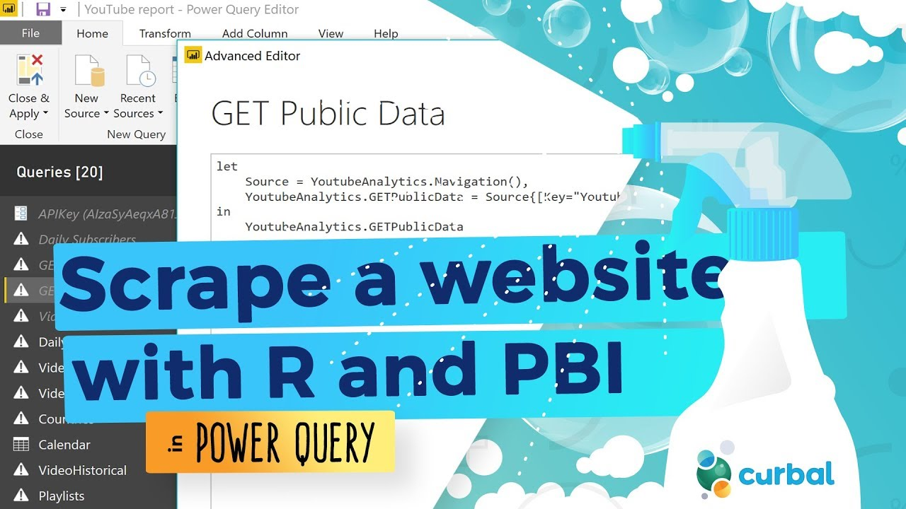 Scrape a website using an R and Power BI and create R functions | D#42